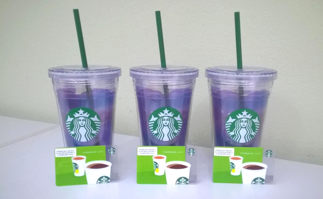 Vyhrajte značkové hrnky Starbucks a VIP karty do kavárny
