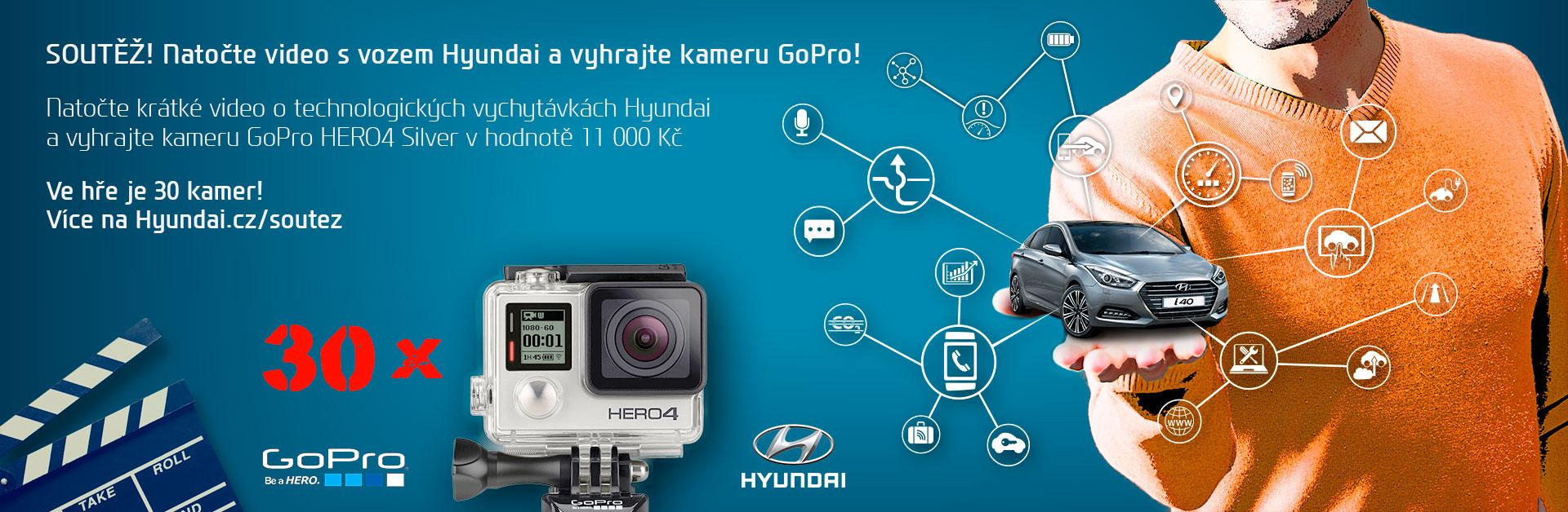 Natočte video s vozem Hyundai a vyhrajte kameru GoPro!