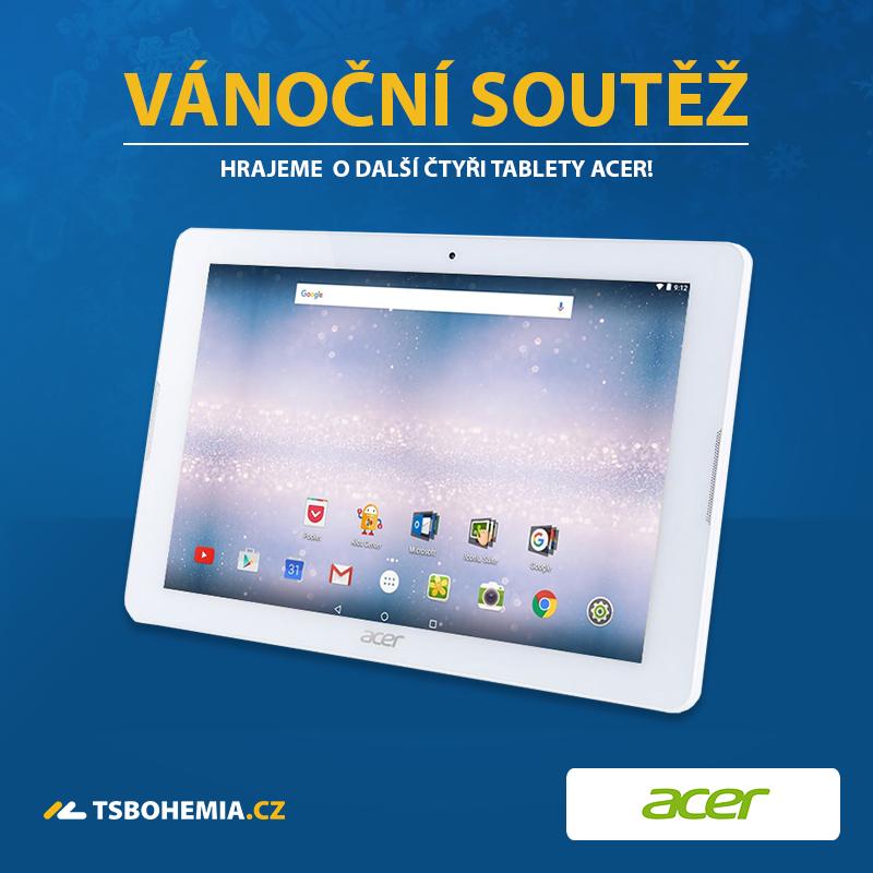 Vánoční soutěž o tablety Acer je zpět!