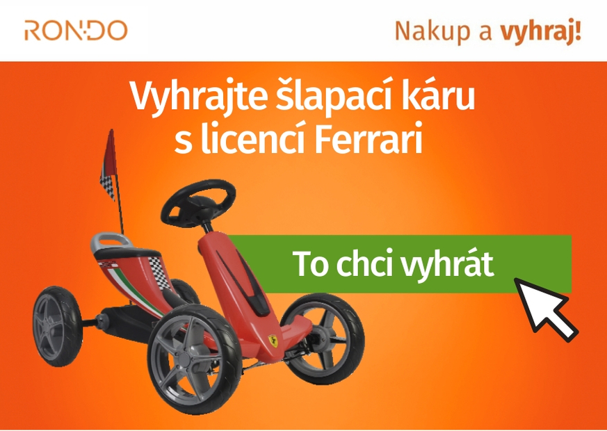 Soutěž o šlapadlo Ferrari Go Kart